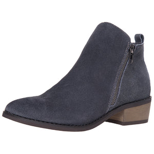 SheSole Women's Ankle Boots Suede Stacked Heels - SheSole