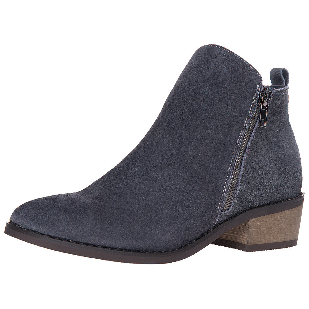 085f9127d93 SheSole Women s Ankle Boots Suede Short Grey Taupe Black Booties Stacked  Heel