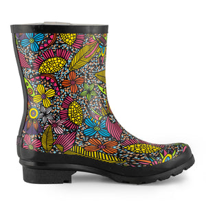 SheSole Womens Floral Short Rain Boots - SheSole