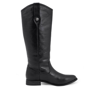 Womens Black Knee High Boots - SheSole