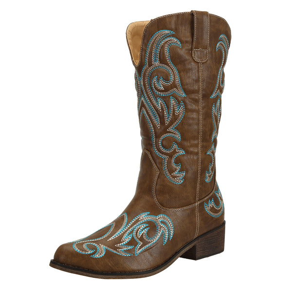 SheSole Pointed Toe Womens Cowboy Boots - SheSole