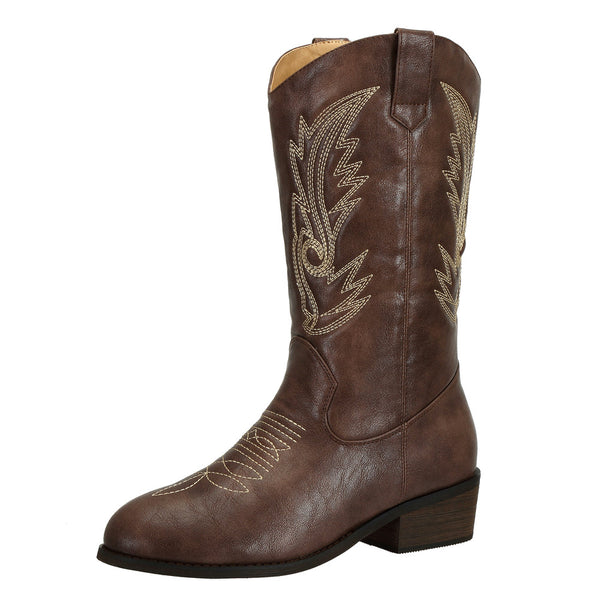 Womens Cowboy Boots Round Toe - SheSole