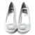 Satin Silver Pumps Bridal Shoes - SheSole