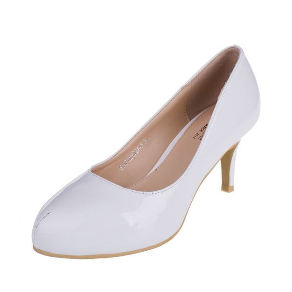 Classic White Pumps Shoes - SheSole