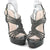 High Heels Black Strappy Sandals With Platform - SheSole