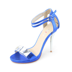 Dress Heel Sandal With Ankle Strap - SheSole