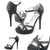Black T Strap High Heels Prom Shoes - SheSole