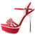 Womens Red Heels Platform Sandals - SheSole
