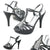 Womens Stiletto Heels Strappy Sandals Black - SheSole