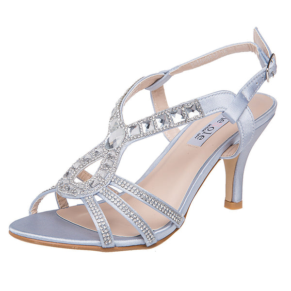 SheSole Strappy Heels For Prom Sandals - SheSole