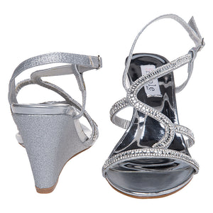 Womens Wedge Sandals Prom Shoes - SheSole