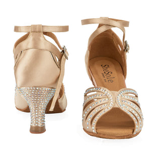 Rhinestone Salsa Dance Shoes - SheSole