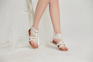 SheSole Womens Gladiator Sandals With Ankle Strap - SheSole