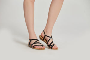 SheSole Strappy Wedge Sandals - SheSole