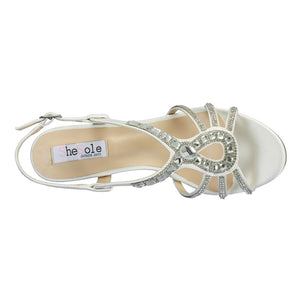 SheSole Rhinestones Kitten Heels Wedding Sandals - SheSole