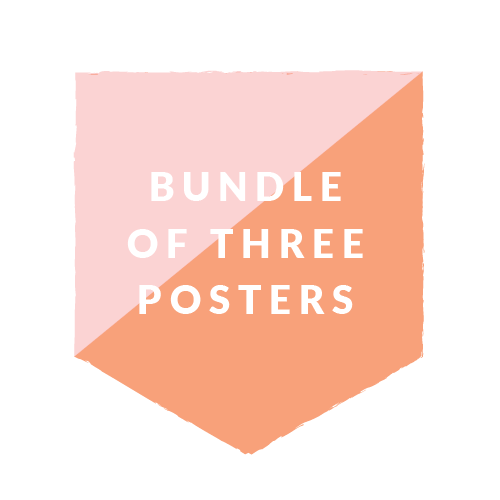 Bundle of 3 Posters - 18x24