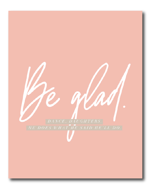 Be Glad