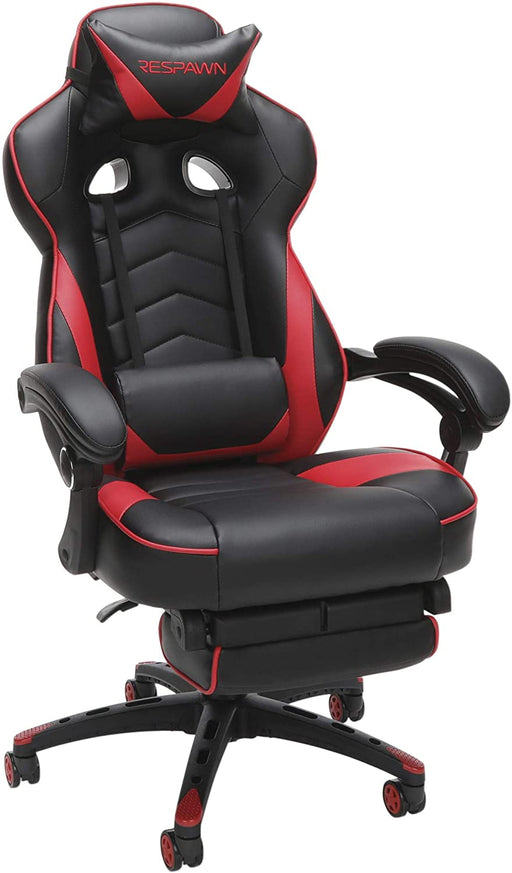 RESPAWN RSP-110 Reclining Ergonomic Gaming Chair with Footrest in Red