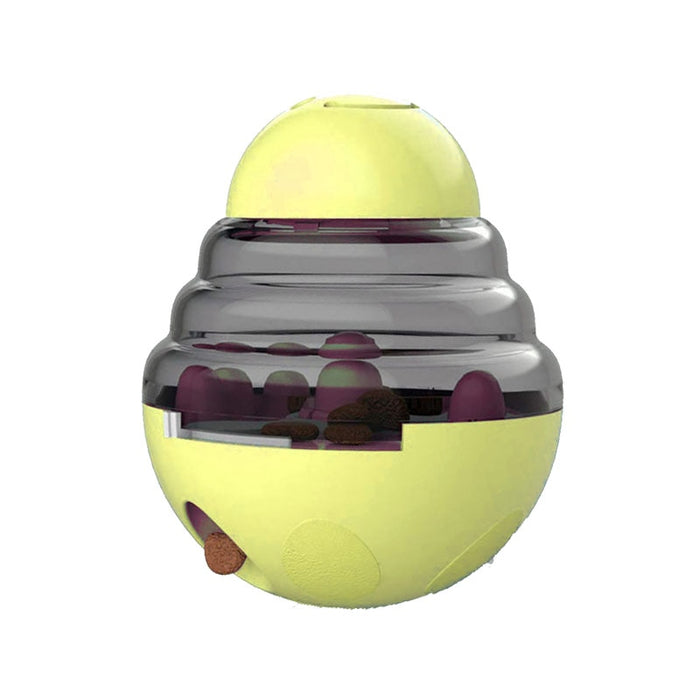 Tumbler Automatic Pet Slow Feeder Treat Ball Dog Toy for Pet Increases IQ Interactive,Food Dispensing Ball Dog/Cat Slow Feed Bowl