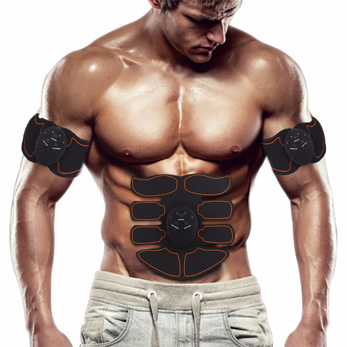 Muscle Toner - Abdominal Toning Belt Fit for Body Arm - Abs Trainer Muscle Toner - Muscle Stimulator - Electrical Muscle Stimulation Abs Stimulator at Home Office Gymnasium or Gym