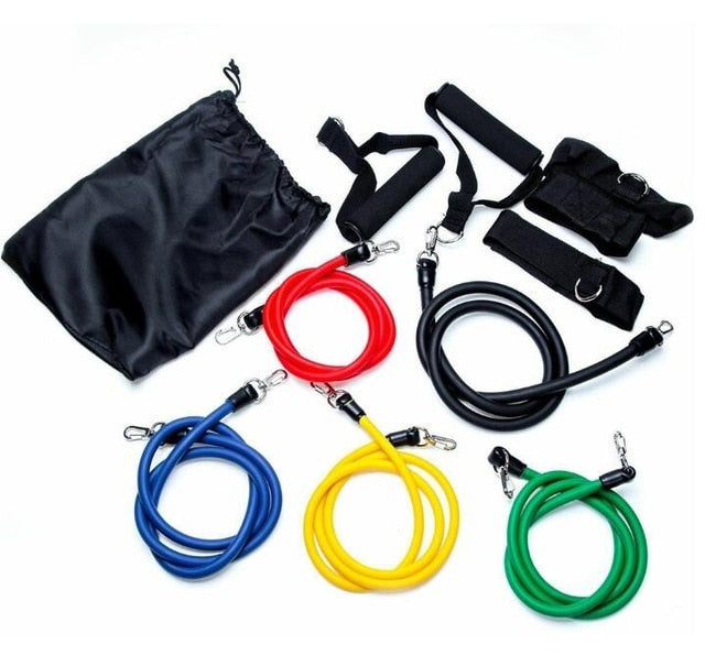 Workout Set 11 PCS Kit Upgrade Resistance Bands Set Loop Bands Powerful Effective For Exercise Sports Fitness Home Gym Yoga