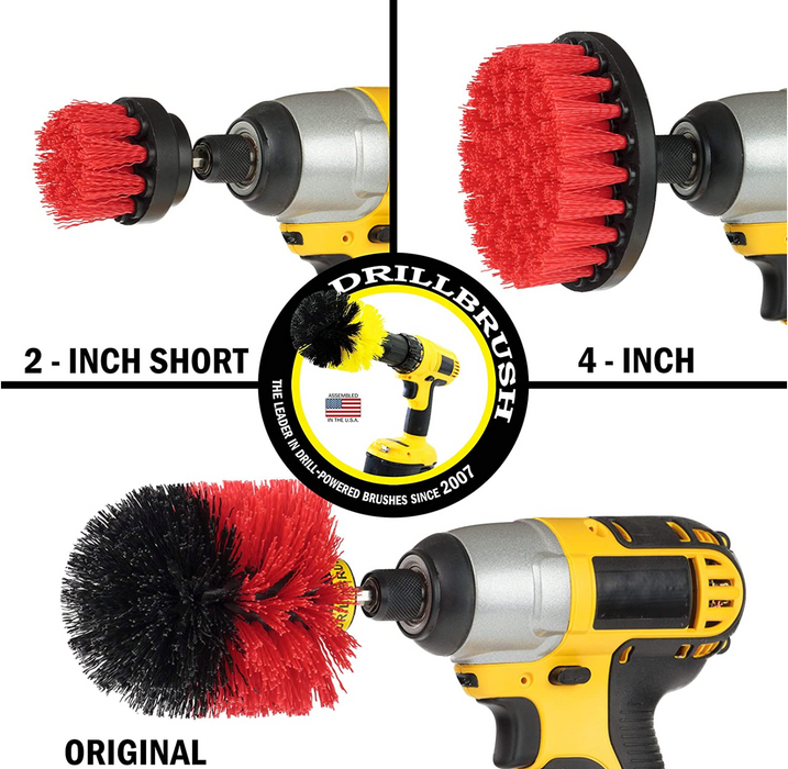 Drill Brush Power Scrubber by Useful Products Drill Brush Attachment - Bathroom Surfaces Tub, Shower, Tile and Grout All Purpose Power Scrubber Cleaning Kit –Grout Drill Brush Set – Drill Brushes