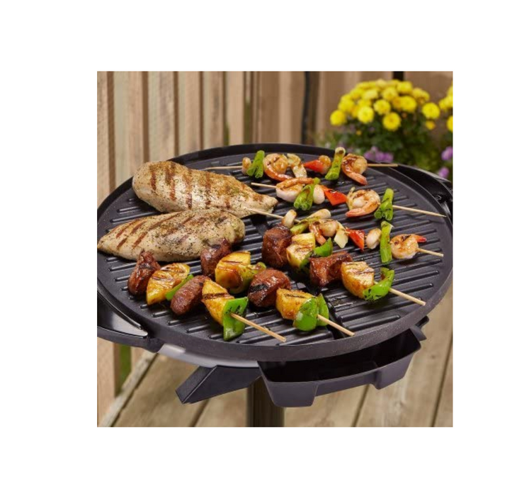 Indoor Outdoor Electric Grill 15 Serving Tough Nonstick Coating Barbecue Cooking