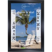 Picture Frame 27x40 Casual Black Poster Photo Lightweight Clear Styrene Face