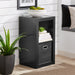 Home 2-Cube Storage Organizer, Solid Black