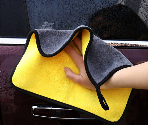 Car Wash Microfiber Towel Car Cleaning Drying Cloth Hemming Car Care Cloth Detailing Towel