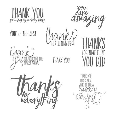 All Things Thanks | Retired Clear Mount Stamp Set | Stampin' Up!