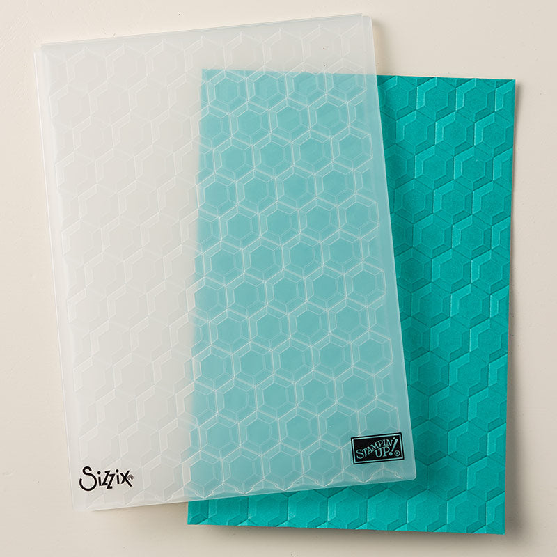 Hexagons Dynamic Embossing Folder | Retired Embossing Folder | Stampin' Up!
