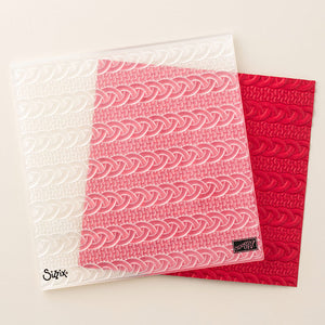 Cable Knit Dynamic Embossing Folder | Retired Embossing Folder | Stampin' Up!