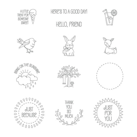 A Good Day | Retired Clear Mount Stamp Set | Stampin' Up!