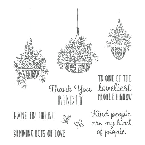 Hanging Garden | Retired Clear Mount Stamp Set | Stampin' Up!