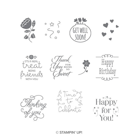 Treat Time | Retired Clear Mount Stamp Set | Stampin' Up!