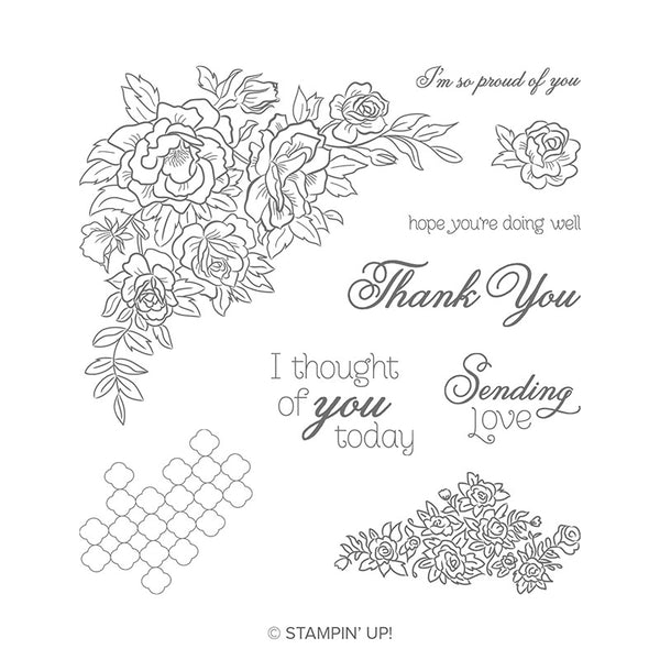 Climbing Roses | Retired Cling Mount Stamp Set | Stampin' Up!