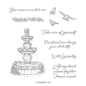 Flowing Fountain | Retired Cling Mount Stamp Set | Stampin' Up!
