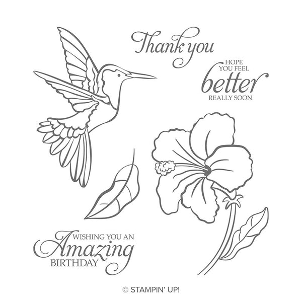 Humming Along | Retired Cling Mount Stamp Set | Stampin' Up!