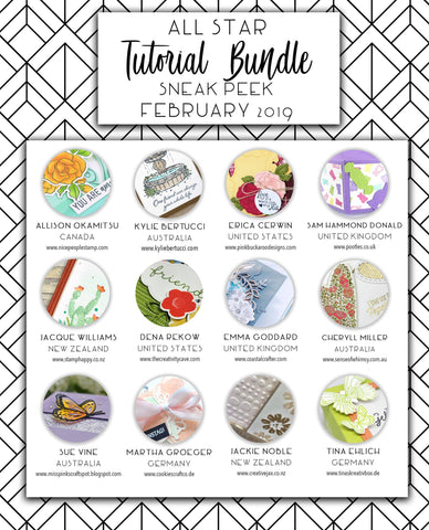 All Star Tutorial Bundle - February 2019 (Instant Download)