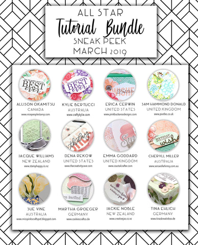 All Star Tutorial Bundle - March 2019 (Instant Download)
