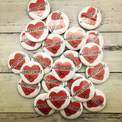 FREE #loveitchopit Badge Printable PDF (Instant Download)