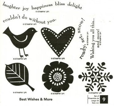 Best Wishes and More | Retired Wood Mount Stamp Set | Stampin' Up!