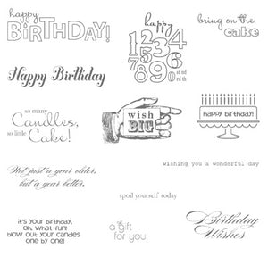Bring on the Cake | Retired Wood Mount Stamp Set | Stampin' Up!
