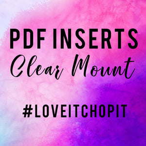 Kylie's #loveitchopit and Storage Clear Insert PDFs (Instant Download)