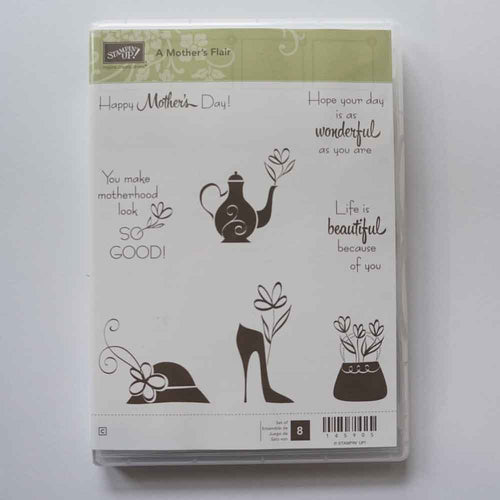 A Mother's Flair | Retired Clear Mount Stamp Set | Brand New