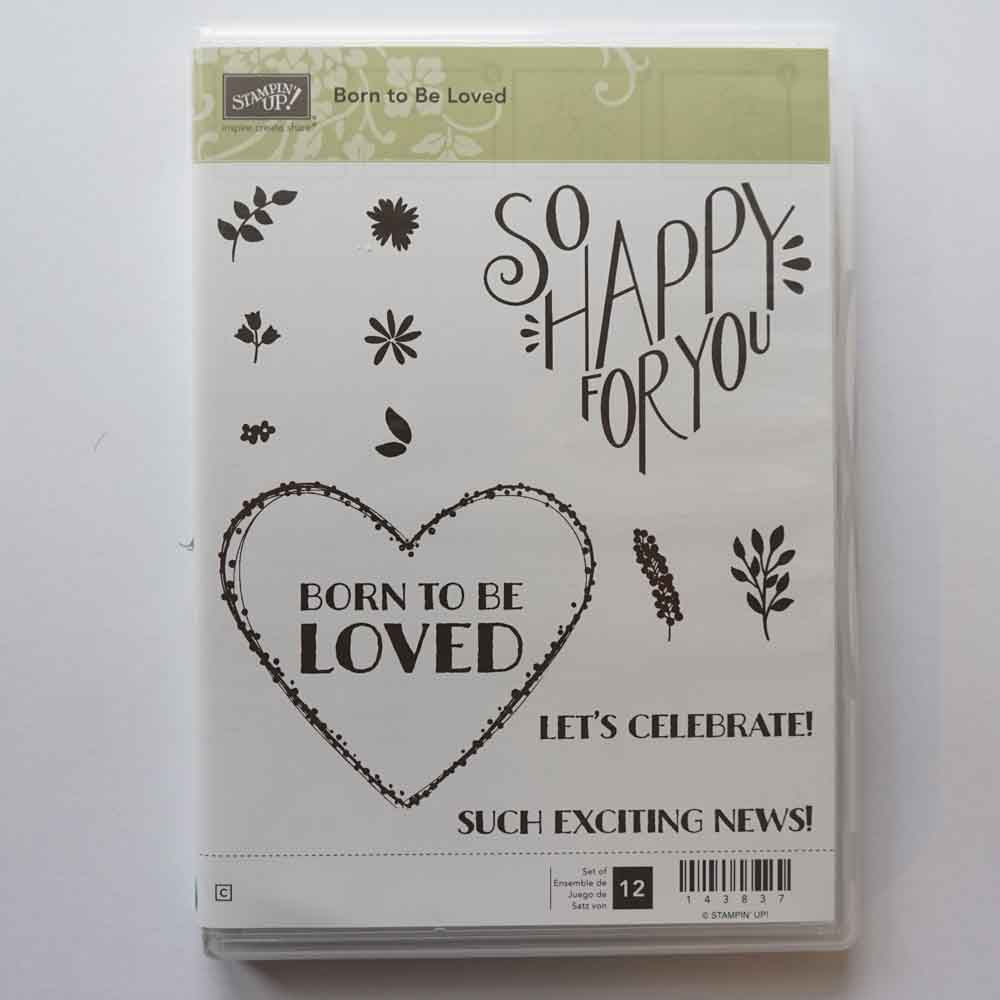 Born to be Loved | Retired Clear Mount Stamp Set