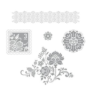 Fresh Vintage | Retired Wood Mount Stamp Set | Stampin' Up!