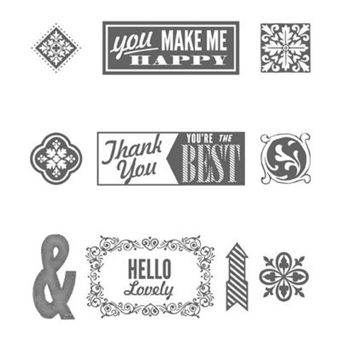 Hello, Lovely | Retired Wood Mount Stamp Set | Stampin' Up!