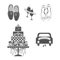 Just Married | Retired Wood Mount Stamp Set | Stampin' Up!